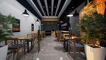 تصميم ديكور داخلي للمحلات والكافي شوب والمطاعم
