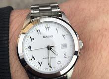 ساعة كاسيو بعقارب من الاستانلس إستيل