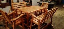 طقم طاولة واربع كراسي تفصيل جديد لا يحمل اجرة التوصيل