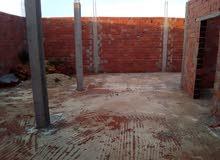 :للبيع منزل في طور البناء المساحة 140متر. طريق واد الليل ولاية منوبة