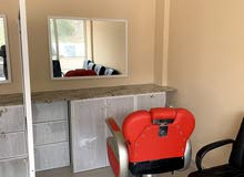 barbar shop for rent new 400 2chair ready to work sidab