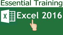Microsoft Excel 2016 Essential Training Courses (Learn Excel Fast)