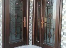 أبواب فولاذية بصبغه نحاسية ممتازة