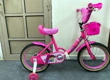 Girly pink cycle almost new دراجة هوائية بناتي