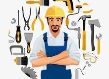 اعمال الكهرباء والبناء والترميم وطلاء المباني