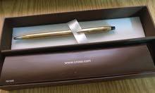 قلم كروس ذهب 10 قيراط جديد للبيع  cross gold pen
