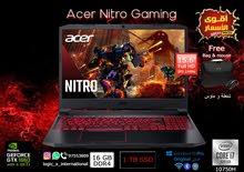 فرصة لا تتكرر ACER Nitro Core i5 10 Gen/Ram 16 GB/256ssd/1 TB HDD 4 GB Nvidia GTX 1650