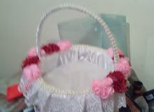 سلات للعروس والمناسبات حسب الطلب تجميلية او حاملة الحلوة او للمهر
