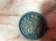 عمله قديمه واحد سنت سنة1847 للبيع