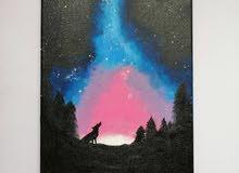 Galaxy behind the wolf