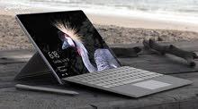 Microsoft Surface Pro 5, i5 256 Gb, Wi-Fi, 12.3- 8gb ram مايكروسوفت سيرفس 2017 الجديد / جديد وكالة