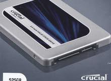 هارد SSD حالة الزيرو ماركة Crucial مساحته 525 جيجا سرعه 6 جيجاالثانية