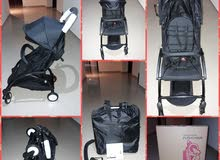 Aircraft cabin fitting travel stroller