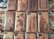 كفرات خشبية منحوتة بدقة لايفون 6s & 6plus & 7s & 7plus