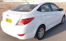 هيونداي اكسنت موديل 2014خليجي وكالة عمان 1.6cc جميع السيارة صبغ وكالة بالكامل