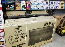 شاشات 55 بوصة V-tech (سمارت فوركيه) كفالة شركة LG (الرؤية الحديثة) لمدة سنة