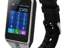 ساعة ذكية - شريحة وكاميرا وذاكرة وشاشة لمس -