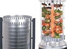 شواية اللحوم والكباب والخضراوات العامودية الكهربائية
