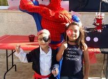 سبايدرمان وشخصيات كرتونية لحفلات الاطفال