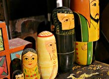 6 Piece Antique Decoration Set, Full Wooden