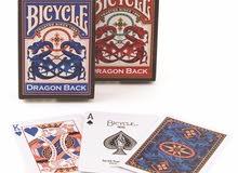 ورق لعب بايسكل Bicycle ( الباصرة - البلوت - كوتشينة ) دراجون باك Dragon back