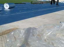 تجهيز الملاعب الرياضية  بالعشب الطبيعي والصناعي