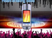 مكبر صوت لاسلكي محمول متعدد الاستخدامات يحتوي علي شاحن ومصباح