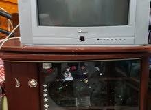 تليفزيون وانسه  قديم+ طاولة +ريسيفير NHE