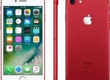 ايفون 7بلس مستعمل شهر لون احمر معاه كل غراضو