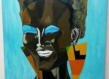 لوحة فنية بمقاس 100×70 بالوان الاكريليك