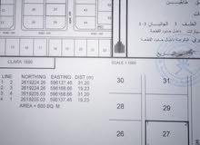 للبيع ارض سكنية ممتازة في بركاء حي عاصم على شوارع مرصوفة