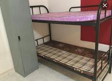 2 سرير حديد دورين بالمراتب بحاله جيده + 2 سرير حديد دور فقط بسعر مناسب