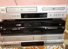 اجهزة مزدوجة كاسيت فيديو VHS و DVD ماركة LG و توشيبا و دايوو . .