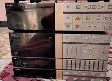 مسجل سستم 5قطع امبيفاير ومكبر صوت بقوة 340واط ياباني الاصلي .نوع AKAI