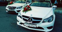White Mercedes Benz E 250 2018 for rent