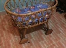 سرير طفل جديد بامبو اصلي وارد إندونيسيا مع المرتبه