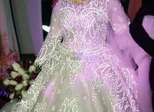 فستان زفاف ملكى بينور  وفستان سورايه لحد 70كيلو