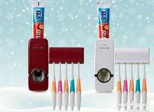 حامل المعجون ورف فراشي الاسنان Toothpaste dispenser