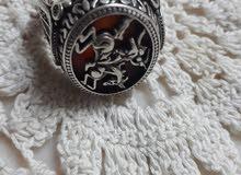 خاتم فضة اصلي