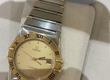 للبيع ساعة اوميغا رجالية اصلية كونسيليشن استيل باطراف ومينا ذهب
