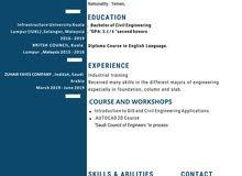 مهندس مدني خريج ماليزيا حديث التخرج