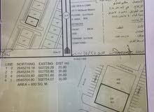 ارض سكني تجاري القصف علئ الشارع العام الذي يربط بين دوار الخابورة ودوار السريع