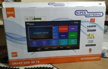 """Super general smart 55"""" 4k UHD Powered by android with box"""
