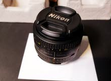 عدسة nikon 50mm 1.8D