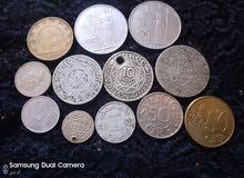عملات مغربية واجنبية للبيع