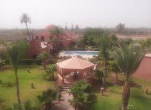 رياض للبيع في مراكش مساحته 600 متر مربع ويتكون من 15 غرفة ، مطعم مغربي واروبي، مسبح و ميدساحات خضراء