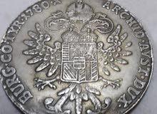 عملة نادرة من 1780 الملكة ماريا تريزا