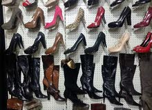 للبيع احذية اوروبية بالة نخب اول تصفية محل اكثر من 2000 قطعة مشكل