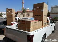 للايجار ونيت  لنقل البضائع والاغراض - فك وتركيب وتقل مكيفات الشباك توفير عمال نقل