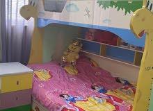 سرير اطفال خشب طابقين